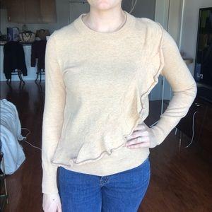 {J. Crew} Ruffle Sweater